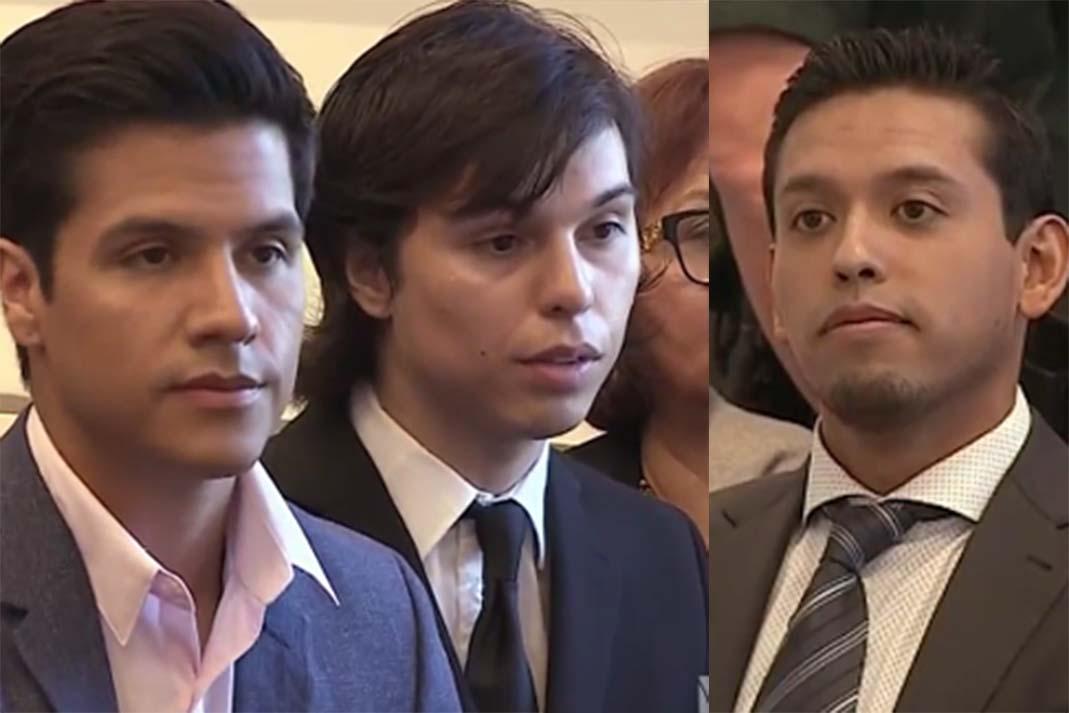 Luis Alberto Aguilera, Joao Aguilera e Iván Aguilera. Captura El Gordo y La Flaca