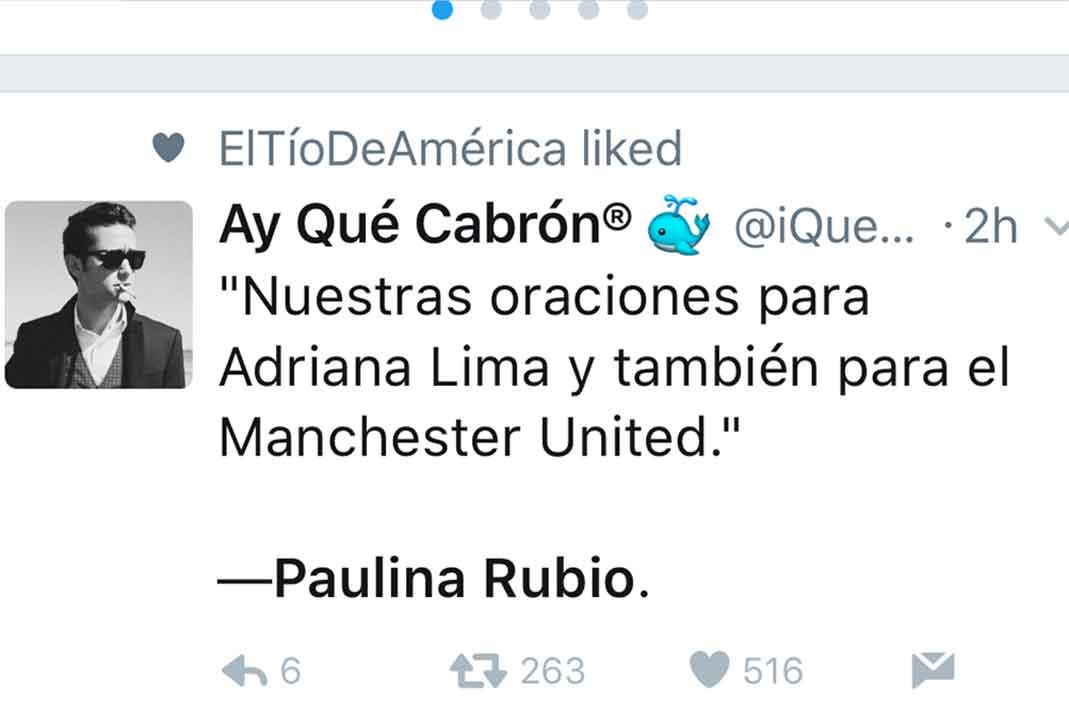 Paulina Rubio Tweet explosión Manchester