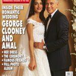 George y Amal lucieron así en la versión británica de la revista Hola! en día de su boda
