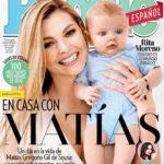 Marjorie de Sousa con su hijo Matías