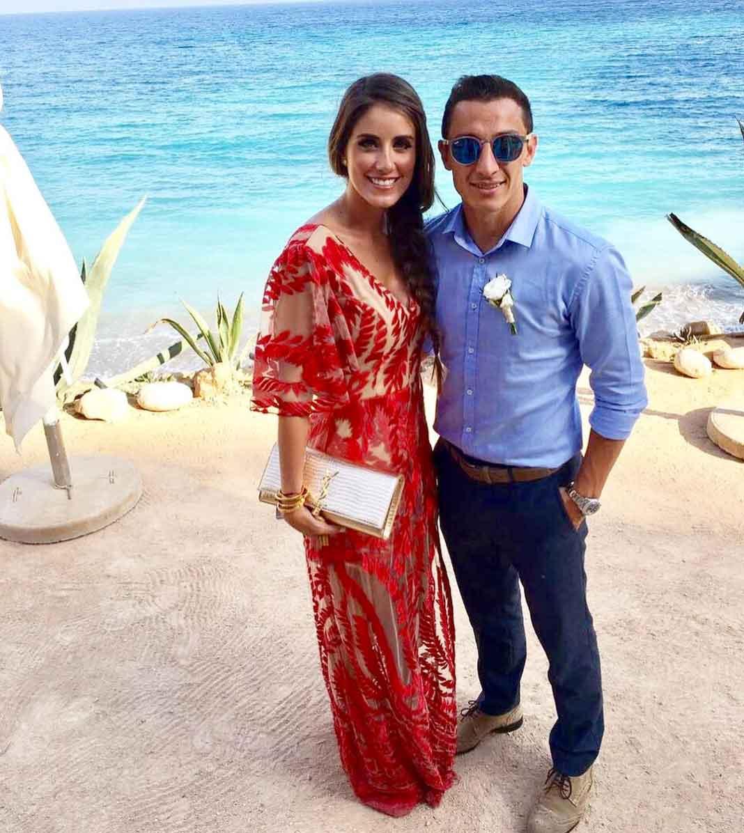 Andrés Guardado y su esposa Sandra de la Vega