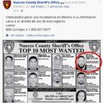 La policía difundió su foto en su lista de los 10 más buscados