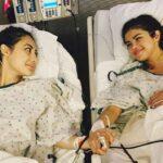 Selena compartió esta imagen al recibir el transplante de riñón de su mejor amiga