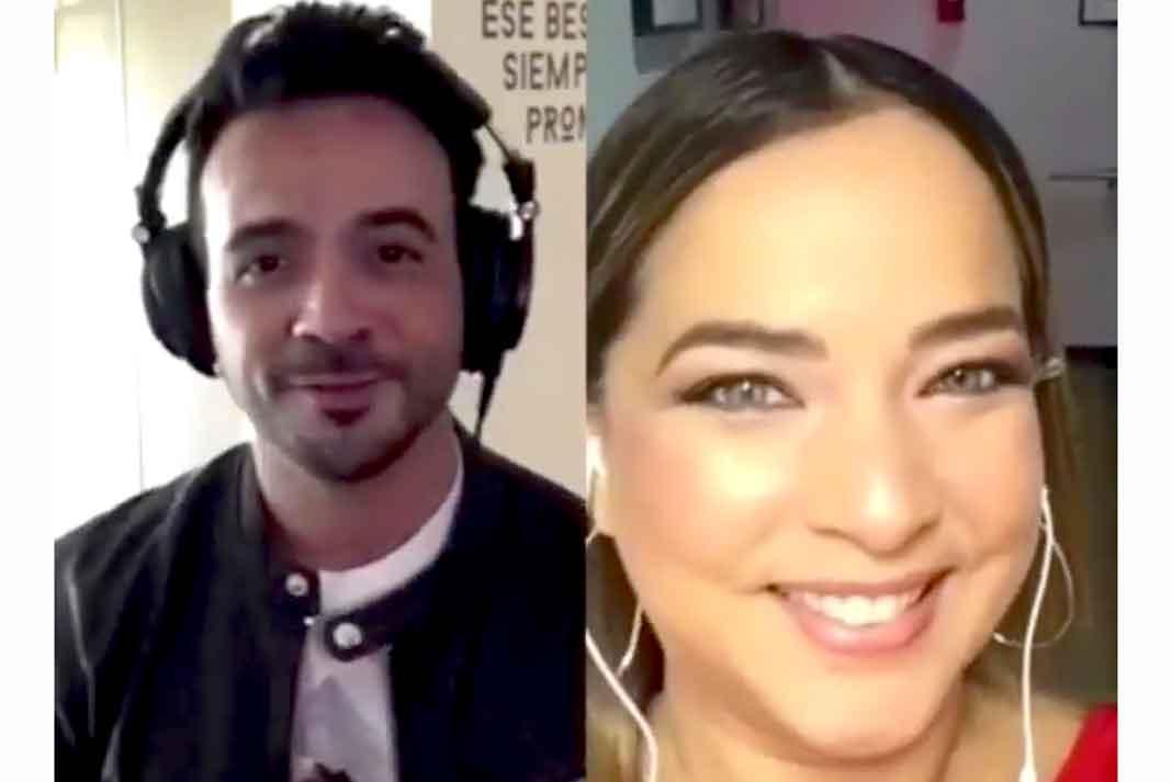 Adamari López aceptó el reto de cantar junto a Luis Fonsi