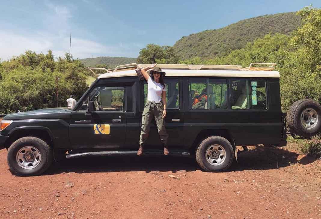Hizo su sueño realidad de ir a un safari por primera vez