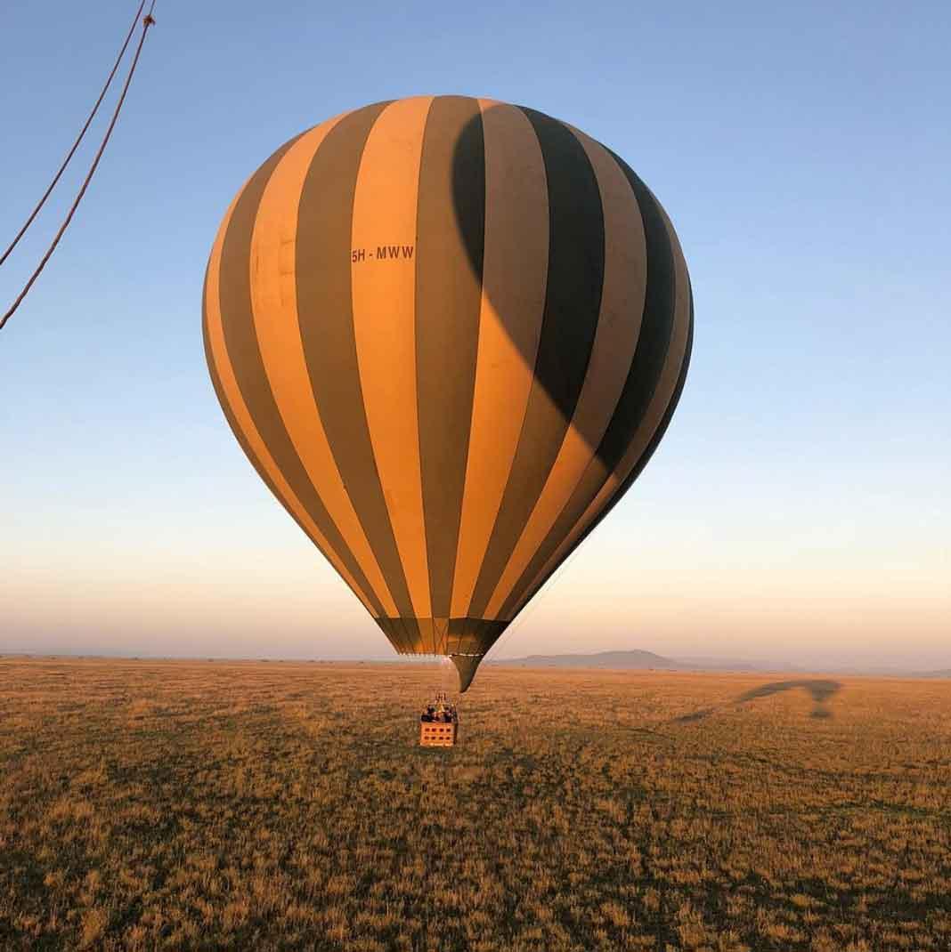 Chiqui y su hija conocieron el Serengeti desde el cielo, abordo de un globo