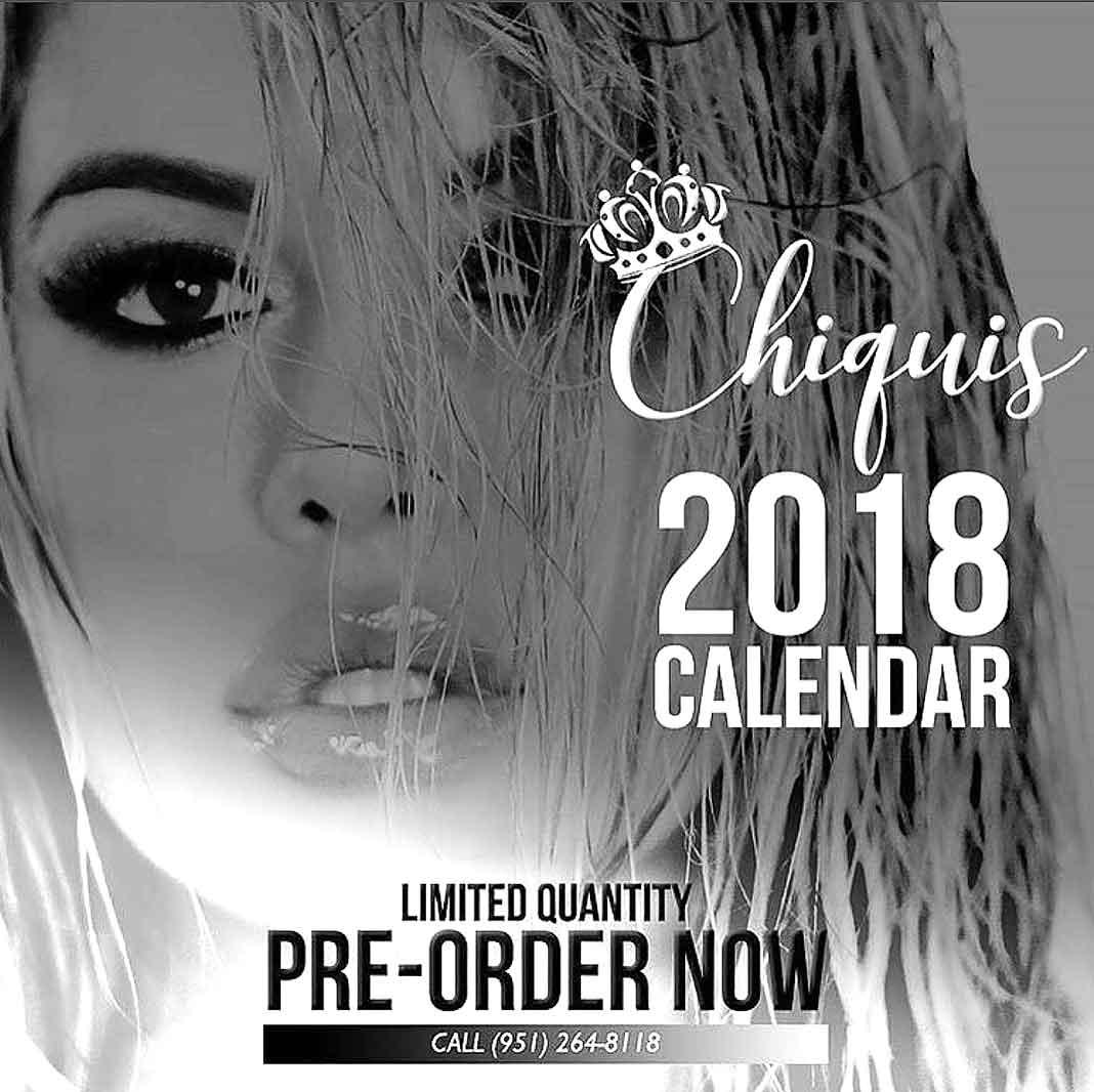 Esta es la portada del primer calendario de Chiquise Rivera
