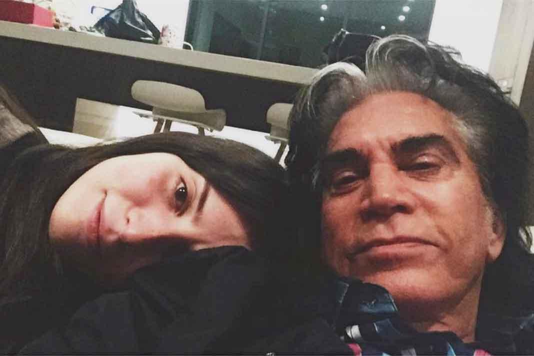 José Luis Rodríguez y su hija menor, la actriz Génesis Rodríguez