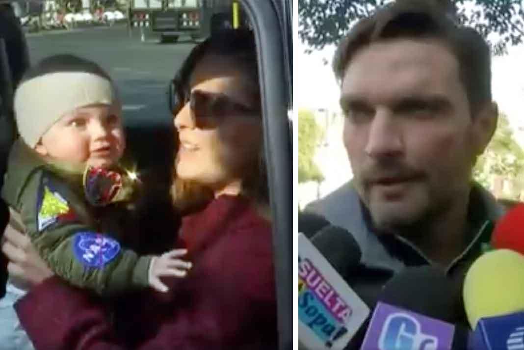 Tanto Marjorie con su bebé como Julián por su lado llegaron puntuales a la cita