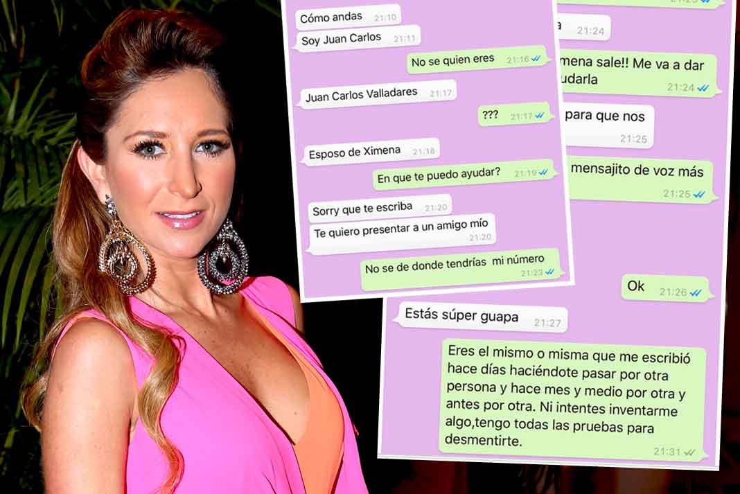 Geraldine Bazán denunció públicamente estar siendo acosado por mensajes de texto