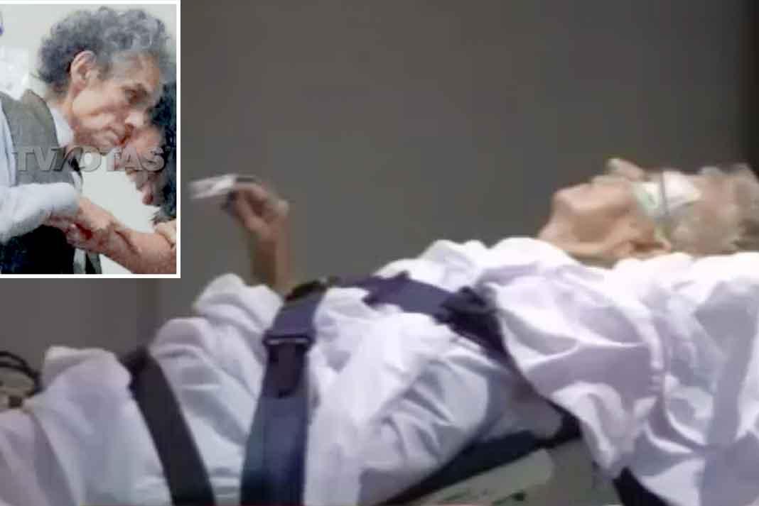 La revista TVnotas publicó esta fotografía del cantante, donde se nota su frágil estado de salud