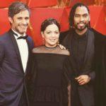 """Gael y Natalia con Miguel, con quien cantaron el tema """"Remember Me"""", de la película """"Coco"""""""
