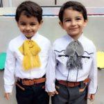 Los gemelitos seguro heredarán de sus padres el amor a México