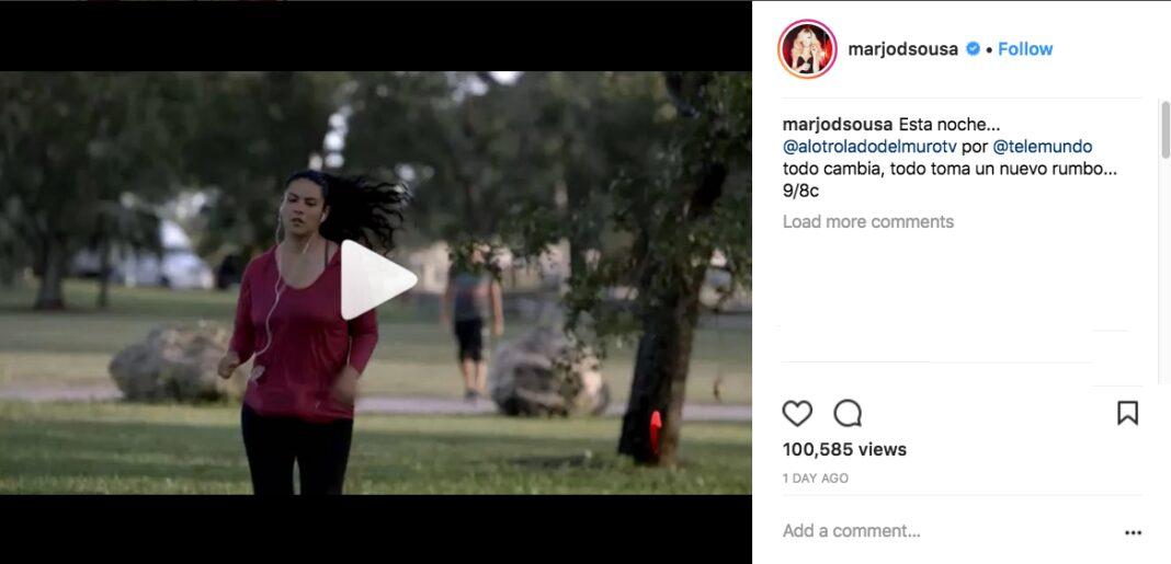 Marjorie de Sousa publicó este post ayer pero es sobre la serie que protagoniza en Telemundo.