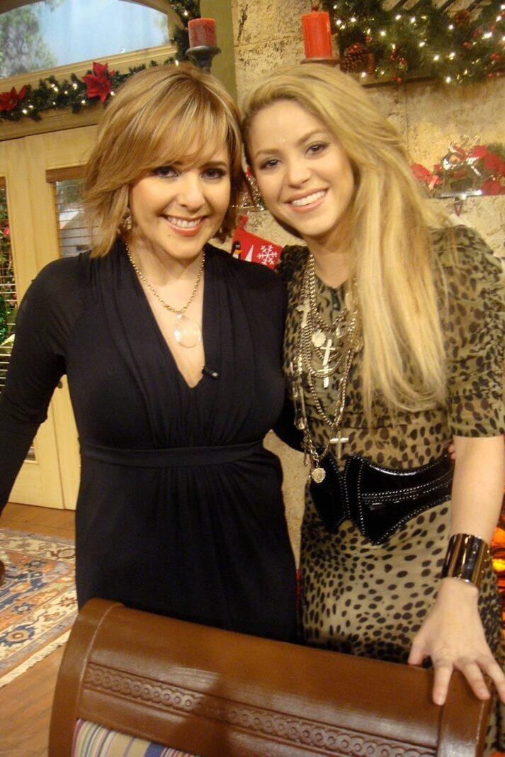 Shakira estuvo en el programa también.