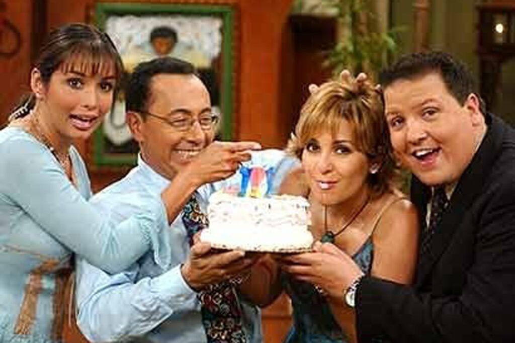 En un cumple mío, Gisselle Blondet, Fernando Arau y mi querido Raúl.