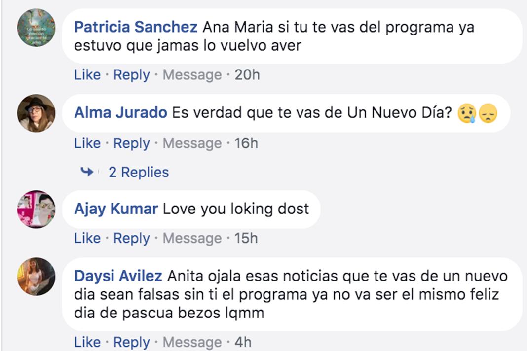 Estos comentarios me los dejaron ustedes en Facebook