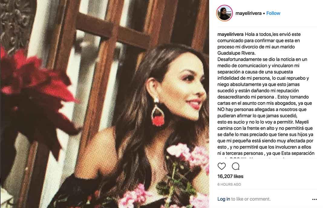 Mayeli dice que tanto ella como Lupillo están manejando su divorcio inteligentemente