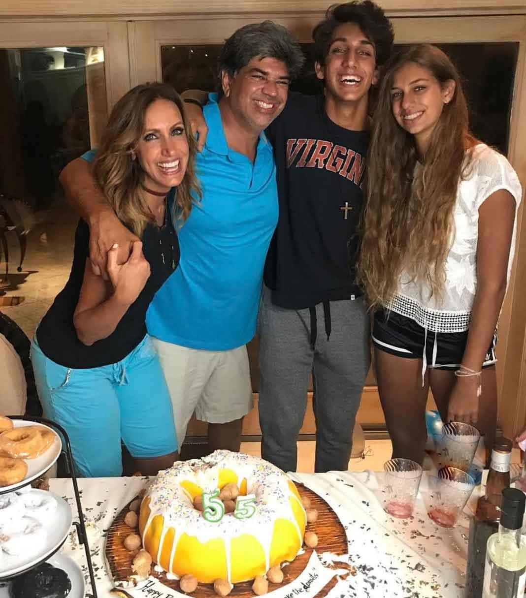 De las últimas veces que los vimos juntos, en el cumpleaños 55 de Lorenzo en julio del 2017