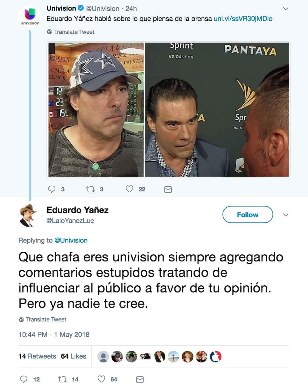 El actor respondió feo a cómo presentaron una entrevista que le hicieron en México los de El Gordo y la Flaca