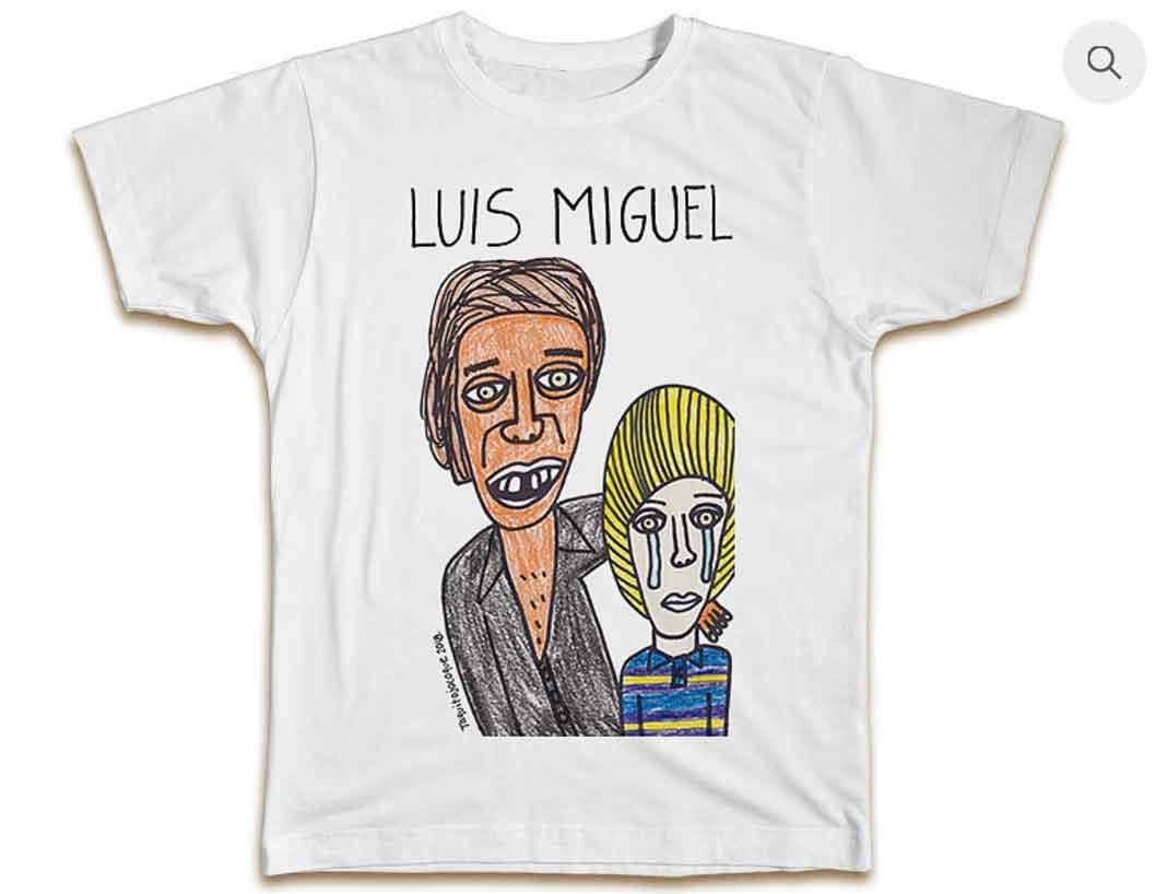 Esta es la camiseta de cuando Luis Miguel estaba chiquito y lo hacía sufrir su papá