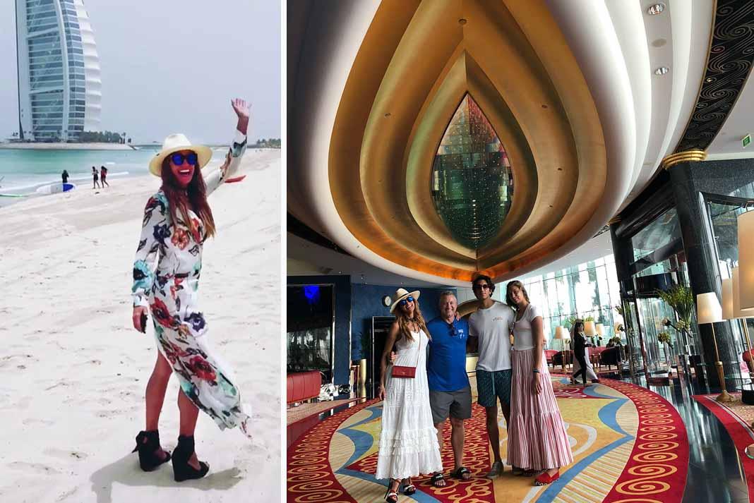No importa dónde esté, Lili va a traer zapatos altos hasta en la arena de Dubai