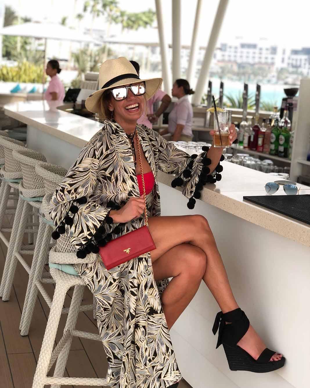 La Flaca siempre tan fashion, no importa el lugar del mundo donde esté