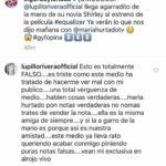 Estos son los post de El Gordo y la Flaca y la respuesta de Lupillo desmintiendo que Shirley sea su novia