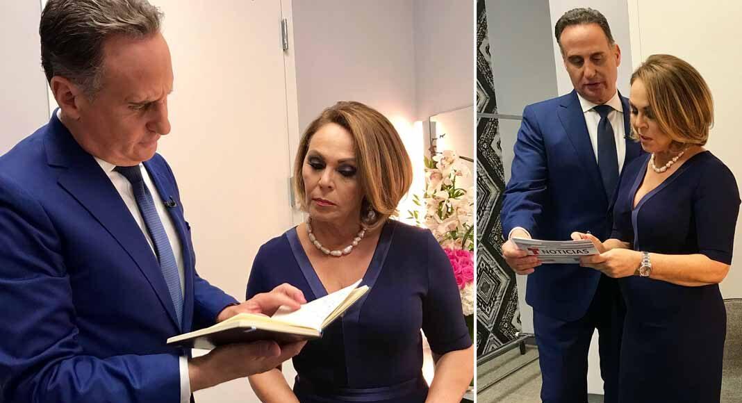 María Elena aceptó la invitación de aparecer junto a José Díaz-Balart, de Telemundo