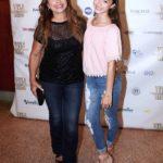Neida Sandoval asistió con su hija Aliene, que está enorme y muy bella
