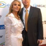 Con su esposo Gustavo Díaz Ordaz Borja, nieto del ex presidente de México, Gustavo Díaz Ordaz