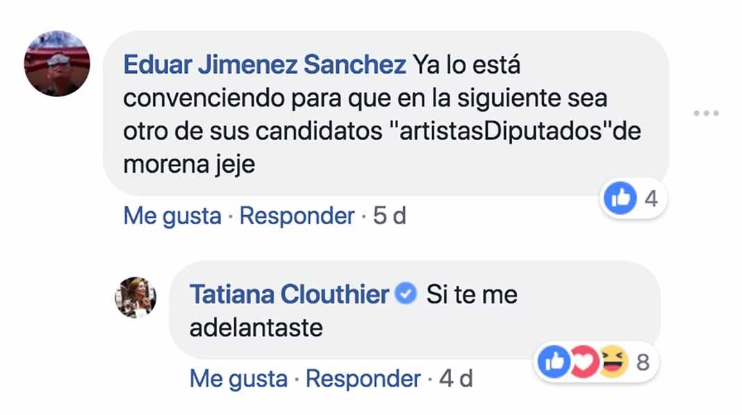 Esto es lo que Tatiana Clouthier respondió a un usuario