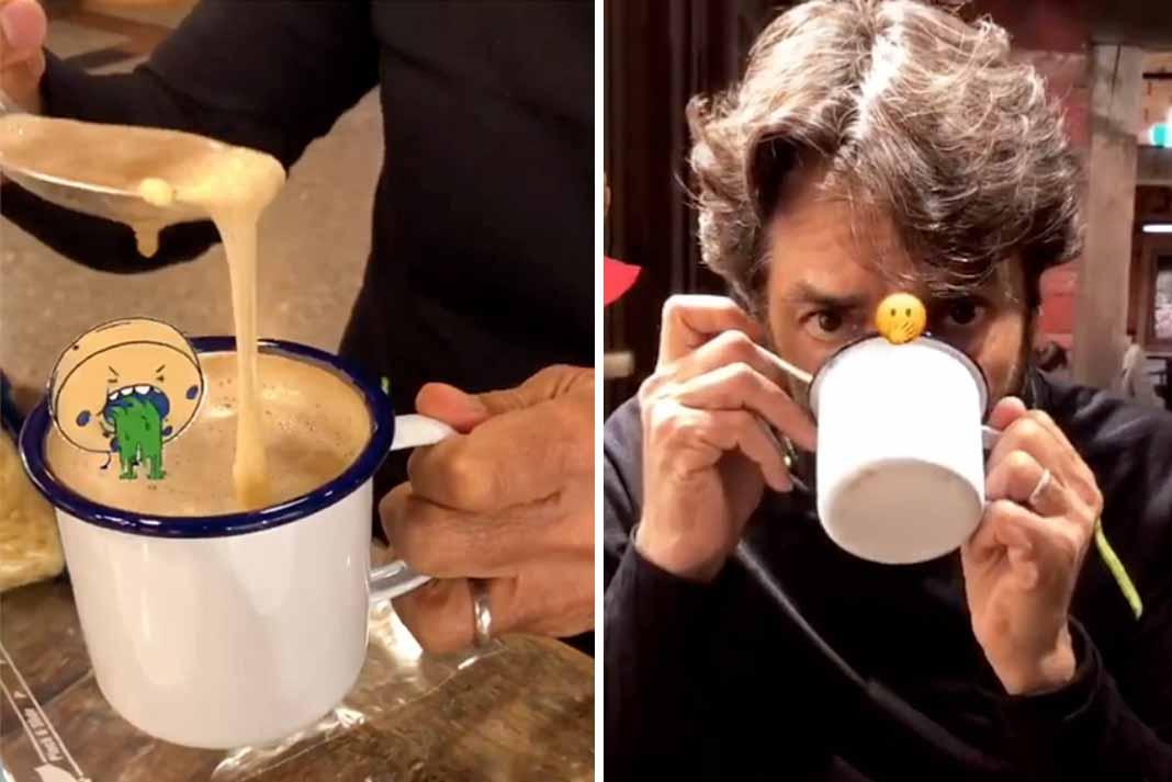 Esta es la peculiar bebida de Eugenio Derbez... ¿Se les antoja?
