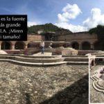 Antigua tiene muchas fuentes, pero la de la Iglesia de La Merced, de 27 metros de diámetro, dicen que es la más grande de Latinoamérica