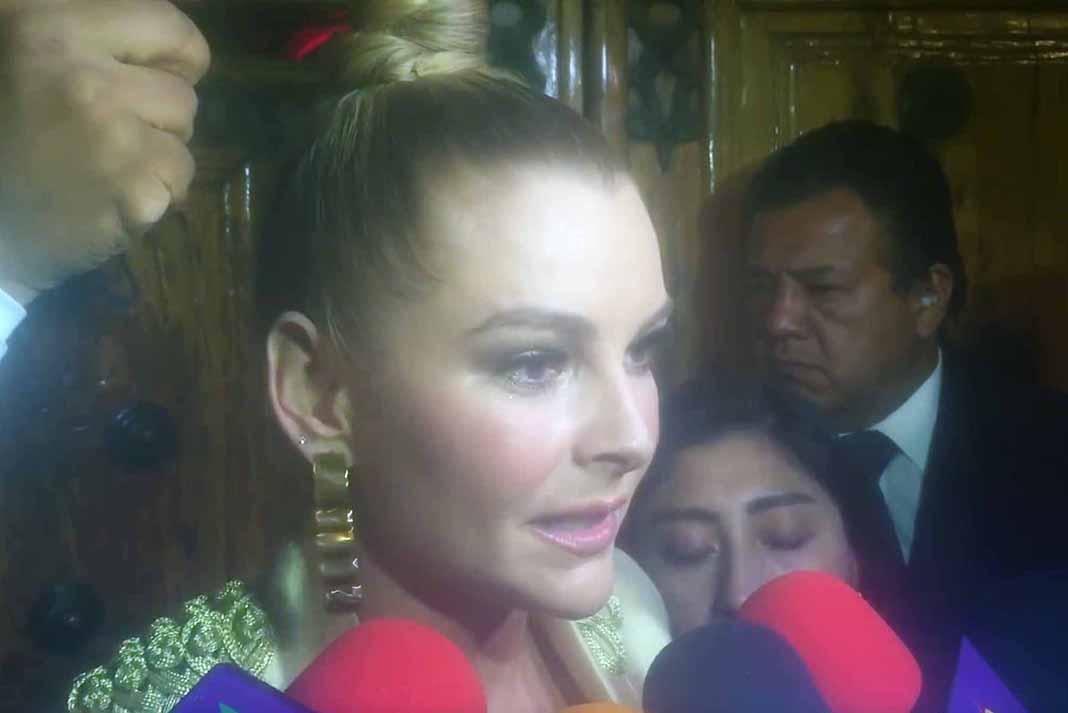 Ante la insistencia de los reporteros, Marjorie salió a dar la cara después del zafarrancho