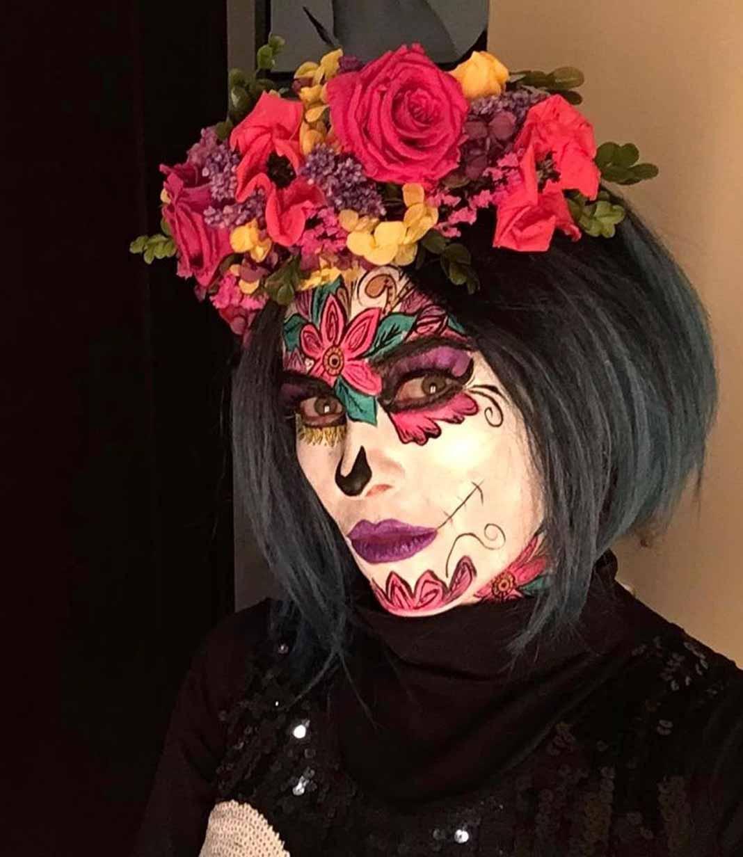 Aracely se maquilló de Catrina en este Día de Muertos