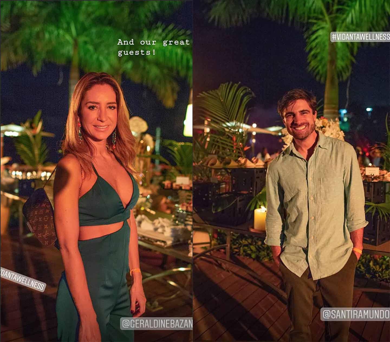Compañeros de clase: Geraldine y Santiago así comenzaban las mañanas en el resort