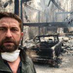 Gerard Butler compartió con sus seguidores cómo quedó su casa hecha cenizas