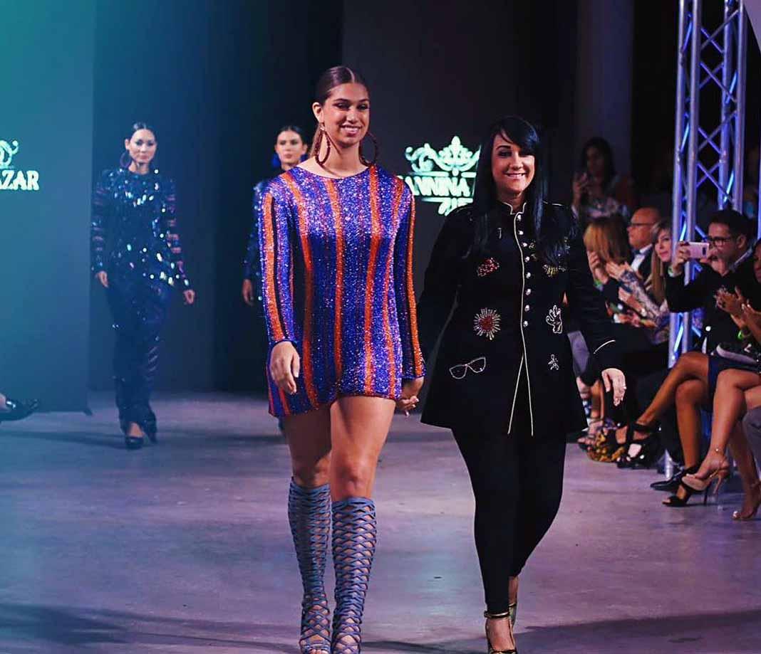 Lina modeló ropa de la diseñadora dominicana Giannina Azar