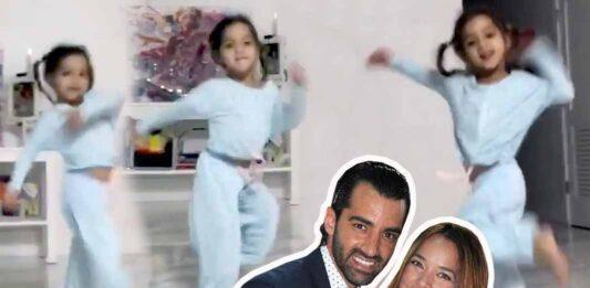 La pequeña heredó el gusto por el baile de sus papás