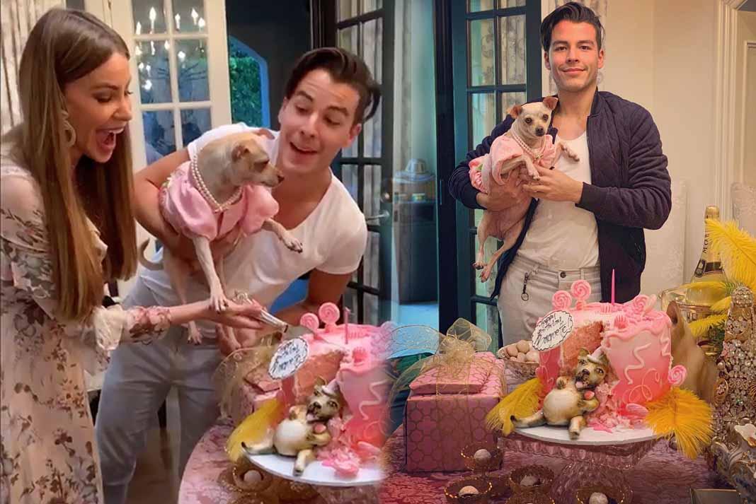 Sofía y su hijo le hicieron una fiesta lujosísima a su perra