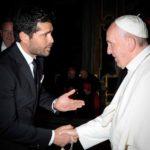 El actor ya es casi cuate del Papa Francisco