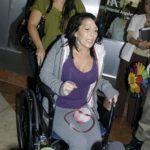 Alejandra al salir del hospital la primera vez que fue operada en 2012