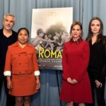 """Angelina Jolie vio con Alfonso Cuarón, Yalitza Aparicio y Marina de Tavira una de las proyecciones de """"Roma"""""""
