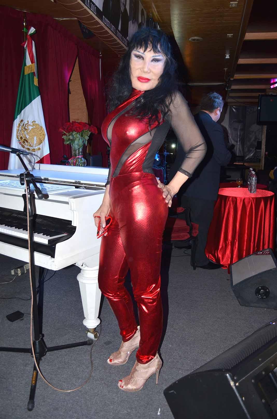 La nominada al Oscar como Mejor Actriz durante una conferencia de prensa en México