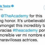 El mensaje de Marina de Tavira a través de Twitter, agradeciendo su nominación