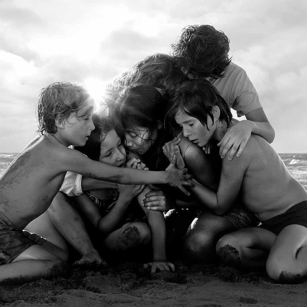 Roma fue filmada en blanco y negro y hablada en español y mixteco