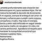 El comunicado oficial de Angélica Rivera