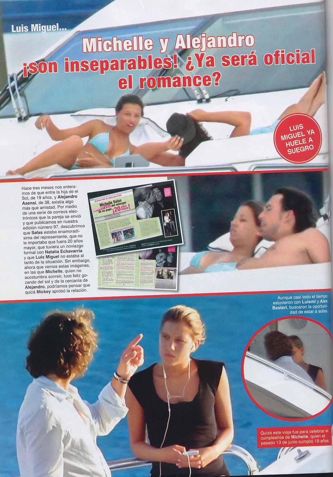 Las revistas dieron por hecho el romance entre Michelle y Asensi