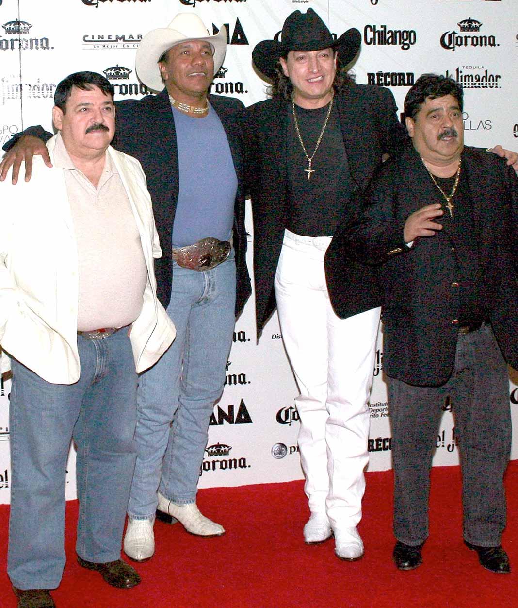 Javier, Lupe, Ramiro y Choche (Q.E.P.D.), integrantes originales del grupo Bronco